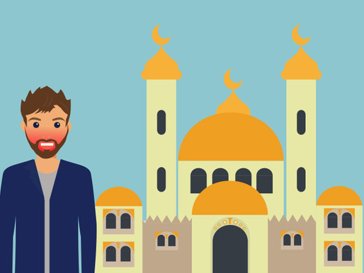 Trapped in a mosque; how NOT to start a career.