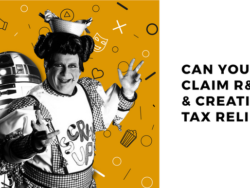 Can you claim R&D & Creative Tax Reliefs?