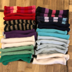 Wristwarmers created by upcycled, reclaimed quality cashmere