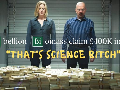 Rebellion Biomass Claim £400K R&D