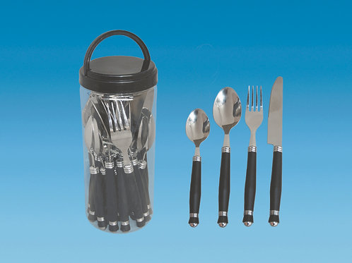 Cutlery Set 24 Pieces in Resealable Plastic Tubular