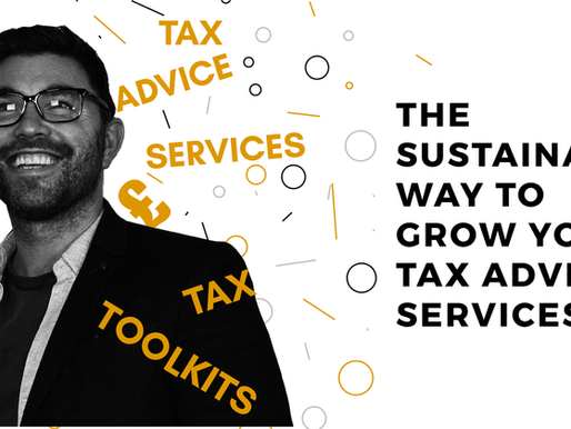 The sustainable way to grow your tax advice services