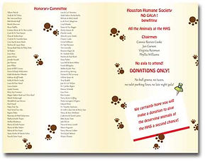 Invitation for the Houston Humane Society