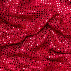 Red Flat Sequin