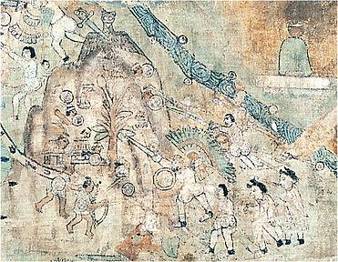 Quauhquechollan cloth painting