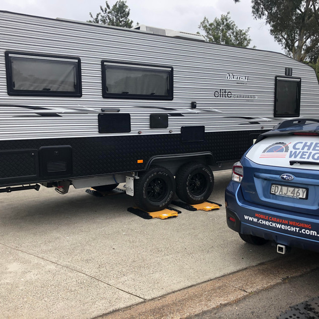 CHeck Weight Mobile Caravan Weighing 5