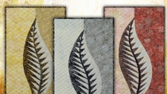 "Quilt Kit - Quiltworx ""One"" Leaf in Titanium"