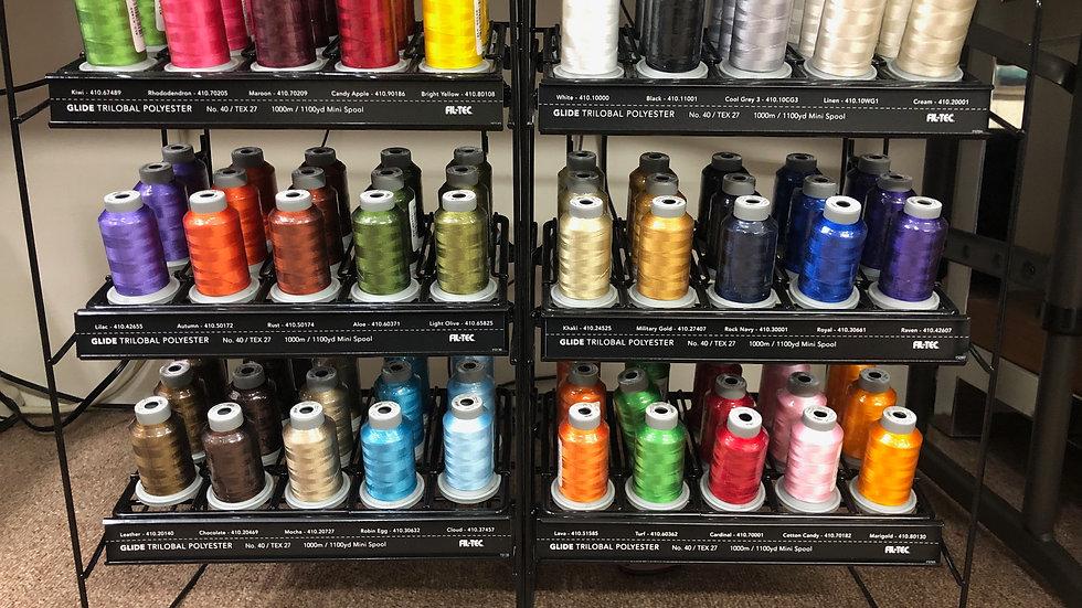 Glide Thread 1000m Mini Spools - Many Colors