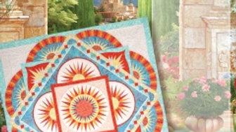 "Pattern - Terracotta 99""x99"" quilt"