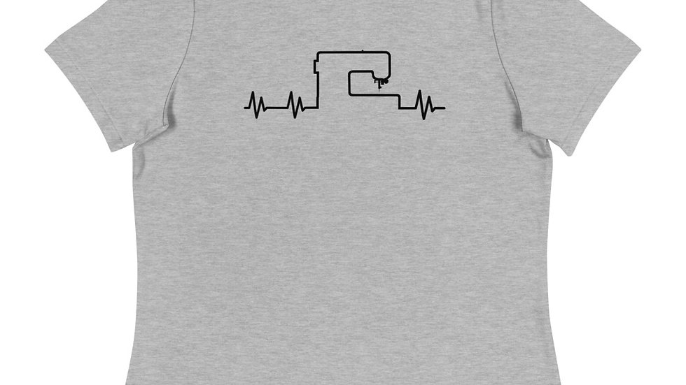 Sewing Machine Heartbeat - Women's Relaxed T-Shirt