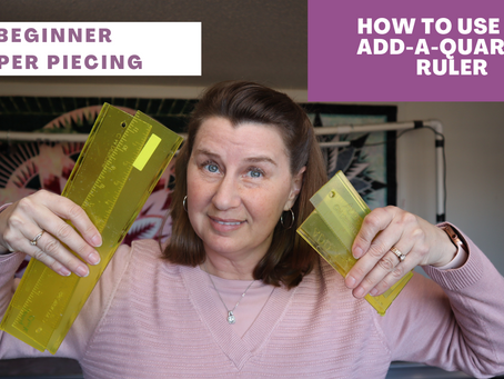 My latest YouTube video:  How to Use the Add-A-Quarter Ruler