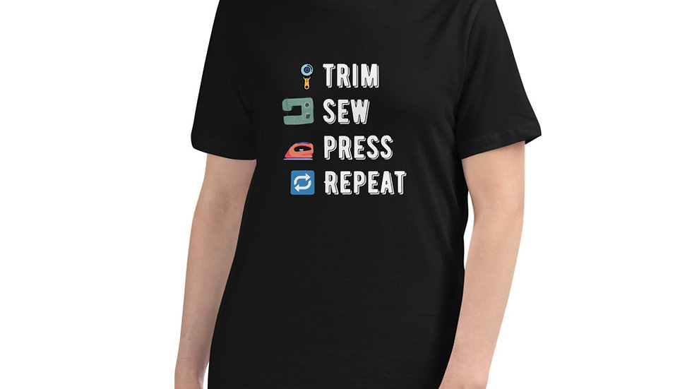 Custom Made Quilting T-Shirt, Trim, Sew, Press