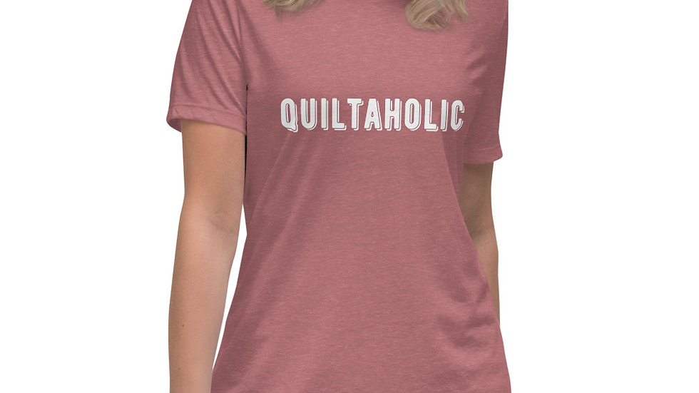 Quiltaholic,  Women's Funny Quilting T-Shirt