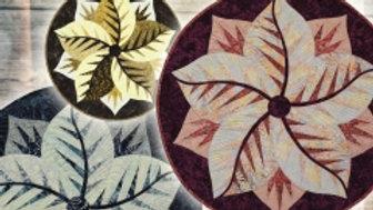 Quilt Kit - Quiltworx Poinsettia in Titanium