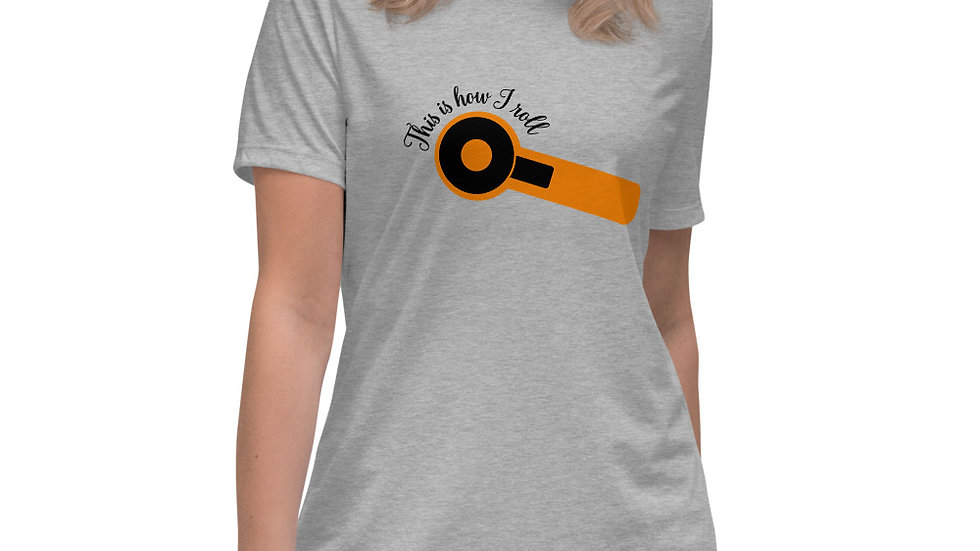 Funny Sewing/Quilting T-Shirt, This is How I Roll, Rotary Cutter