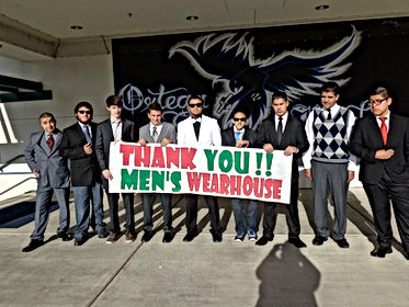 THANK YOU MENS WEARHOUSE SIGN WITH STUDE