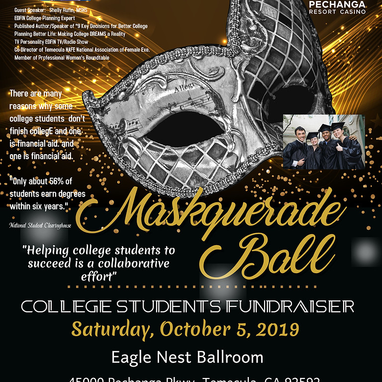 2 Events:  Masquerade Ball - 2nd Chance Prom