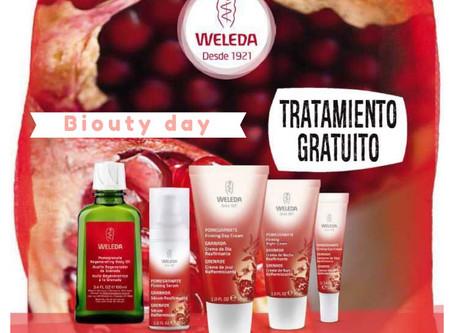 Tratamiento gratuito de cosmética natural con Weleda y oferta de 2+1