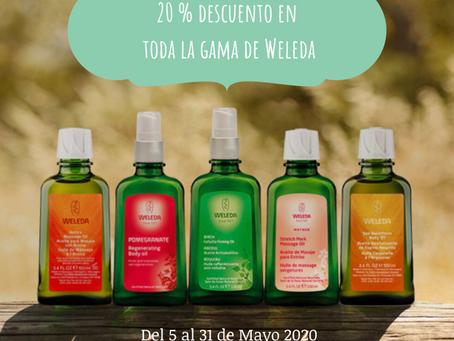 Oferta de 20% Dto. en toda la gama de Weleda