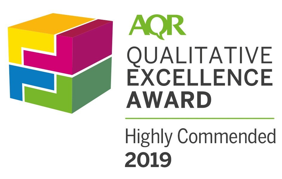 ampersand research highly commended Association of Qualitative Research Highly Commended AQR