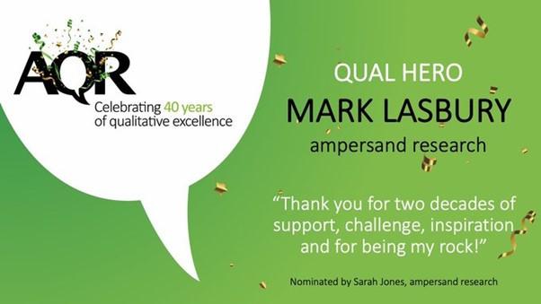 Qualitative Market Research heroes Mark Lasbury