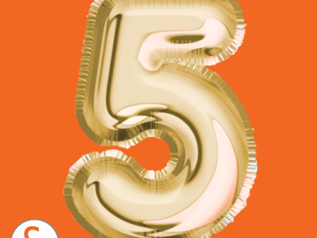 Hip hip hooray…it is our 5-year birthday!!