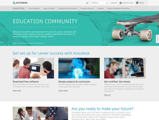 Autodesk in Education web banner