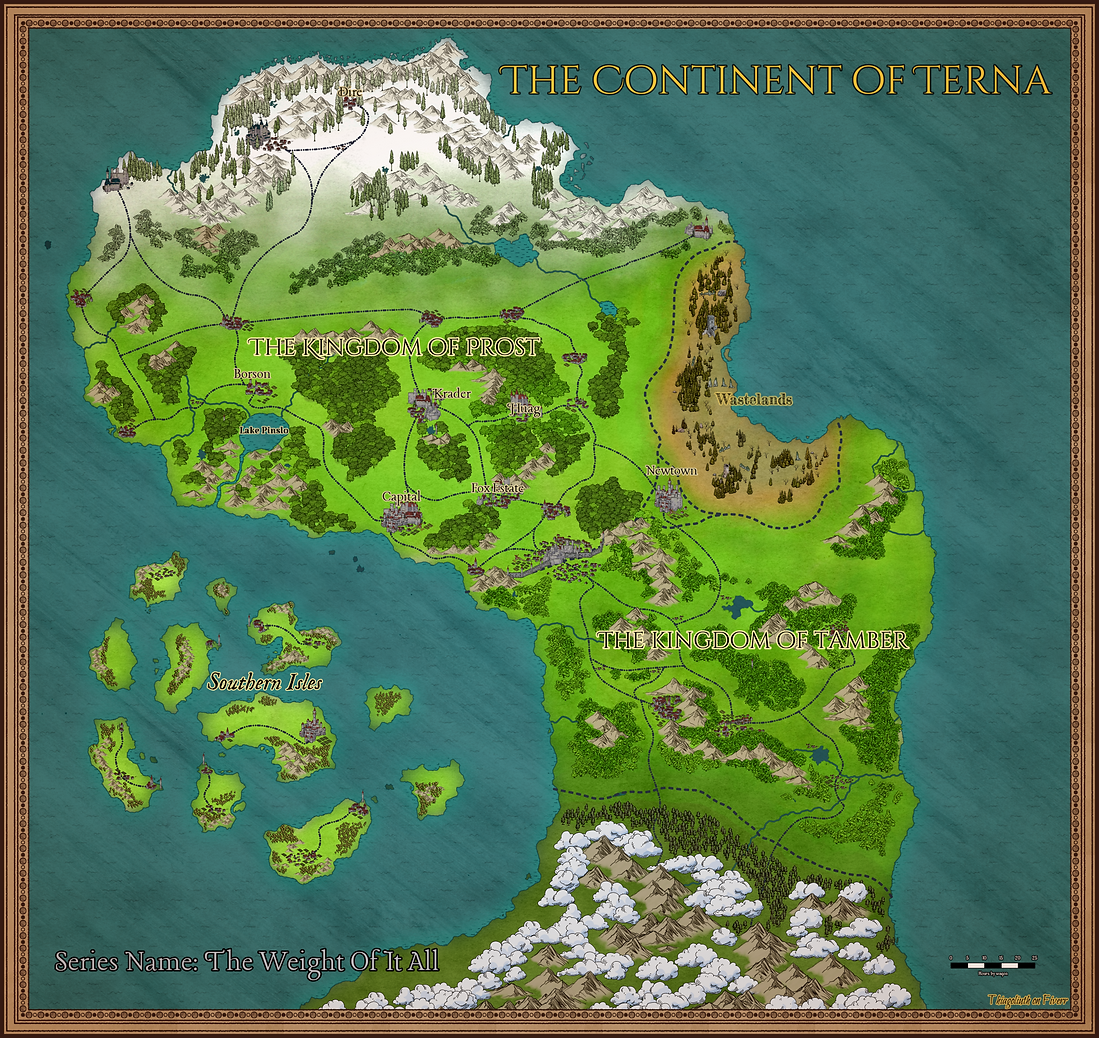 Map Of The Weight Of It All LitRPG Series