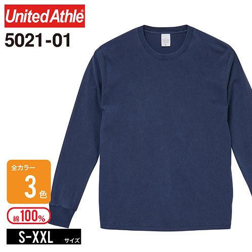 United Athle(ユナイテッドアスレ) | 5021-01 5.6オンス ピグメントダイロングスリーブTシャツ S-XXL