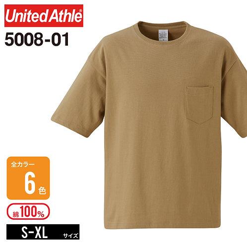 United Athle(ユナイテッドアスレ) | 5008-01 5.6オンス ビッグシルエットTシャツ (ポケット付) S-XL