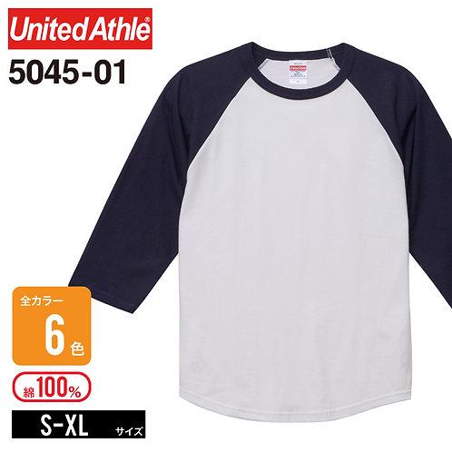 United Athle(ユナイテッドアスレ)   5045-01 5.6オンス ラグラン3/4スリーブTシャツ S-XL