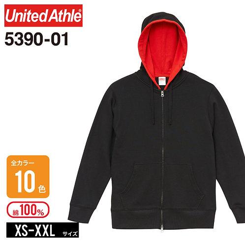 United Athle(ユナイテッドアスレ)   5390-01 9.3オンス レギュラーパイルスウェットフルジップパーカ XS-XXL