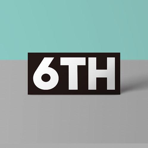 6TH ステッカー