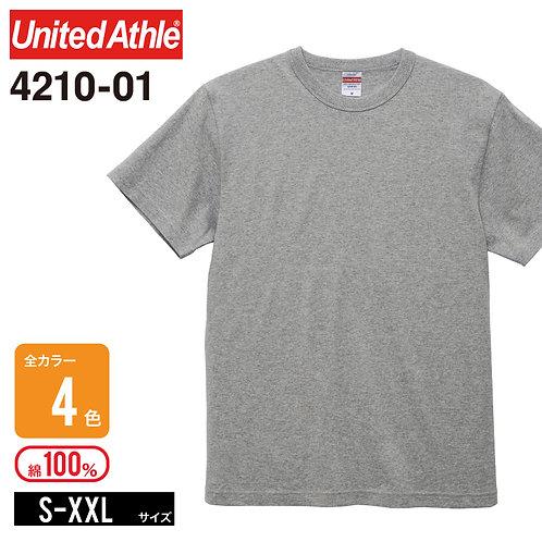 United Athle(ユナイテッドアスレ) | 4210-01 6.0オンス オープンエンドバインダーネックTシャツ S-XXL