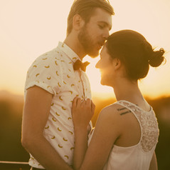 Retro Braut und Bräutigam