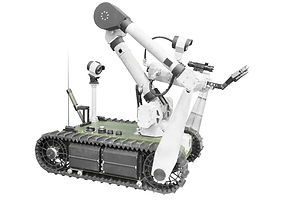 Search and rescue robot unit isolated on