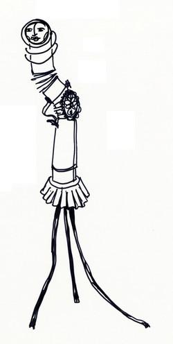 Croquis-Danseuse immobile