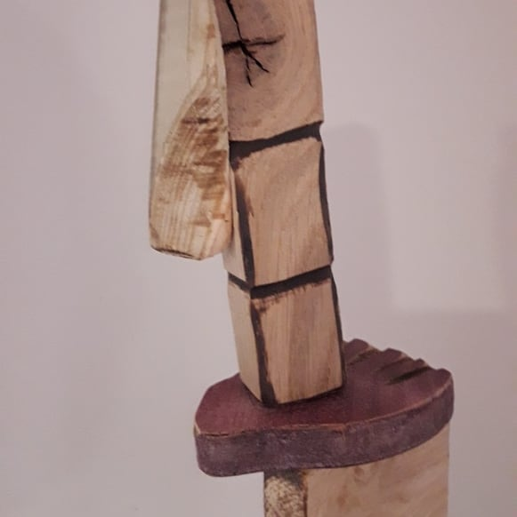 détail pantin de bois