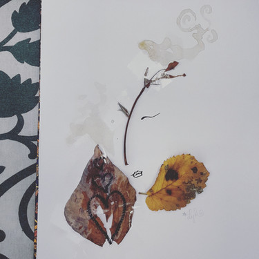 Collage & dessin - Sicile 2018