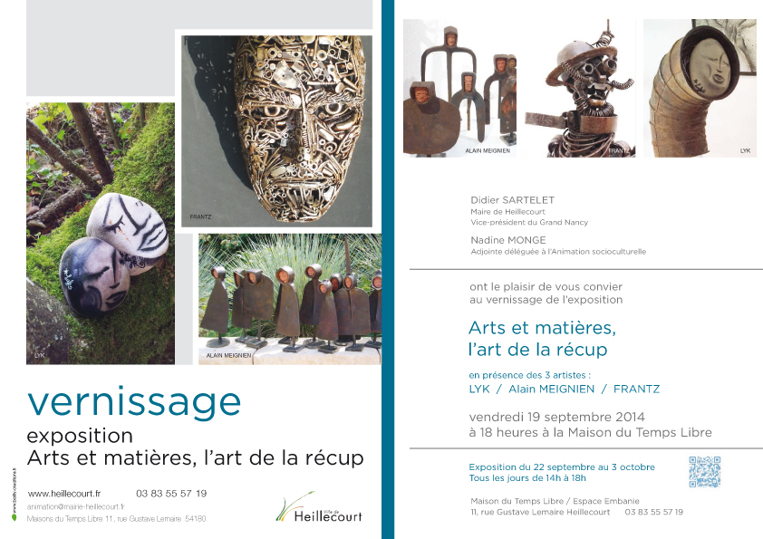 Vernissage vendredi 19 sept 2014