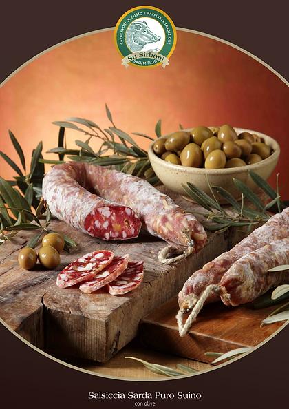 Salsiccia sarda con olive Su Sirboni