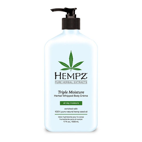 Hempz Tripple Moisture Herbal Whipped Body Lotion 17 fl oz