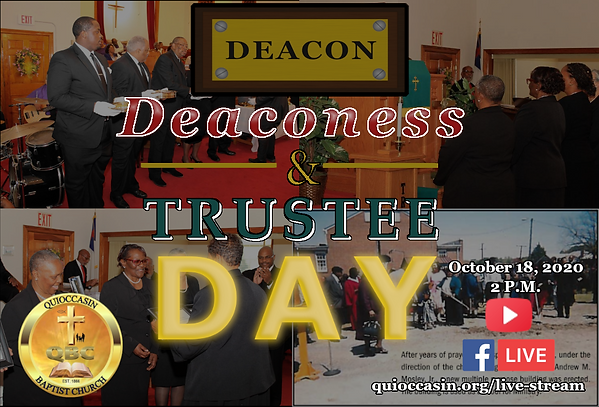 full deacon, deaconess, trustee day ad.p