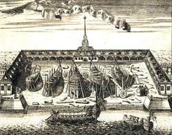 Вид Адмиралтейской верфи в Санкт-Петербу
