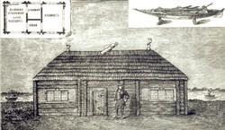 Пётр I периодически жил в домике с 1703