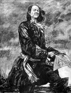 Пётр Первый на закладке Санкт-Петербурга