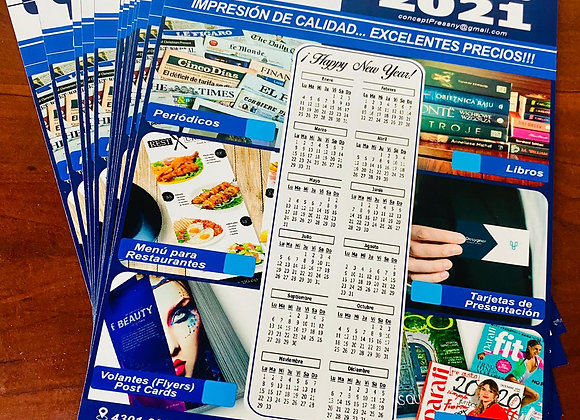 Calendario (8.5x11) Ancho 100# Glossy/Mate