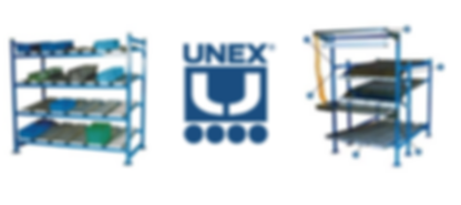 Unex Flow Cell and Spantrack gravity racking
