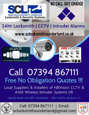 24hr Locksmith - CCTV - Security Alarms