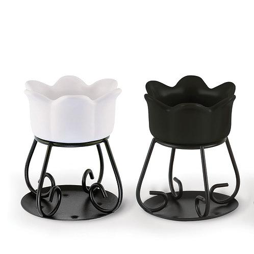 Bruciatore Petal Bowl Tart Bianco/Nero